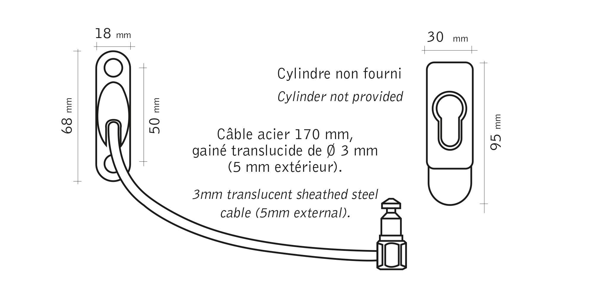 Cablair - Entrebâilleur de fenêtre à câble Socona